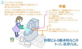 サムネイル:断水時のトイレ洗浄方法