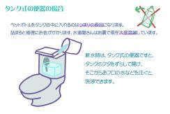 サムネイル:タンク式便器での洗浄