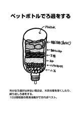 サムネイル:ペットボトルで濾過