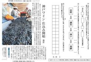 神戸ワイン仕込開始