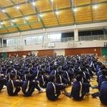 被災した神戸の様子語る 本紙社員 猪名川中などで震災授業
