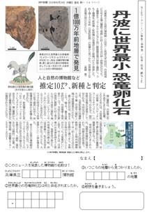 丹波に世界最小 恐竜卵化石