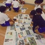4年生が壁新聞作り 神戸・西舞子小