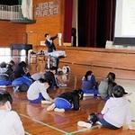 地方紙の特徴 児童120人学ぶ 高砂・米田小、本紙記者が授業